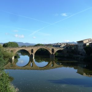 Bridge over the Arga rives, Puente la Reina