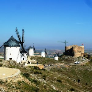 Windmills and Castle in Consuegra