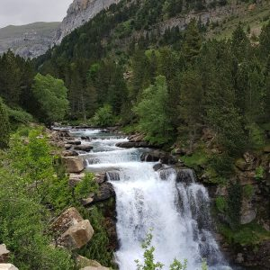 Waterfall in Pyrenees Huesca