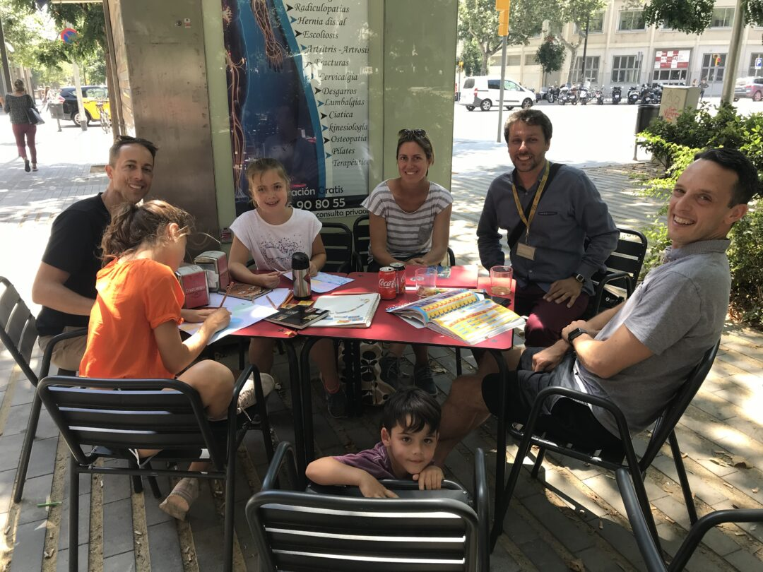 A tour with a family in Spain