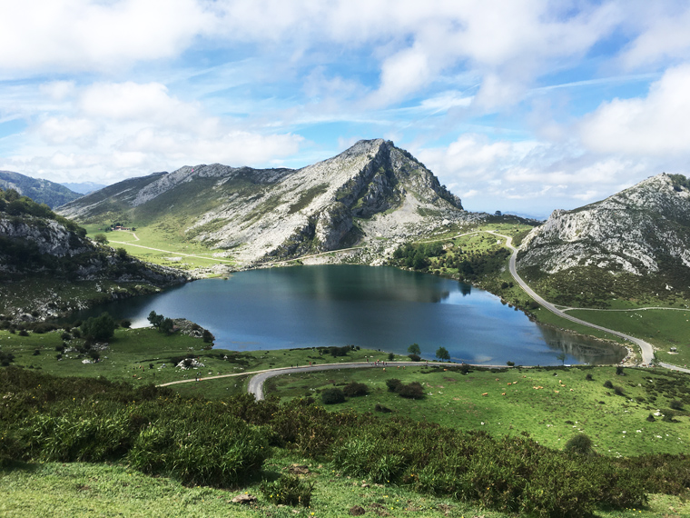 Beautiful lake in the Cantabrian Mountains
