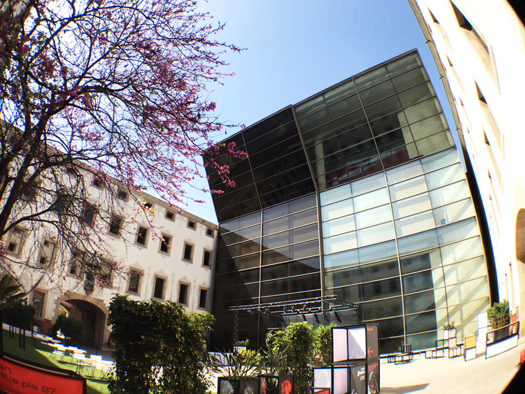The Barcelona Center of Contemporary Culture, courtyard.