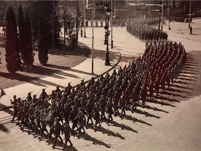 Franco's victory parade in Madrid.