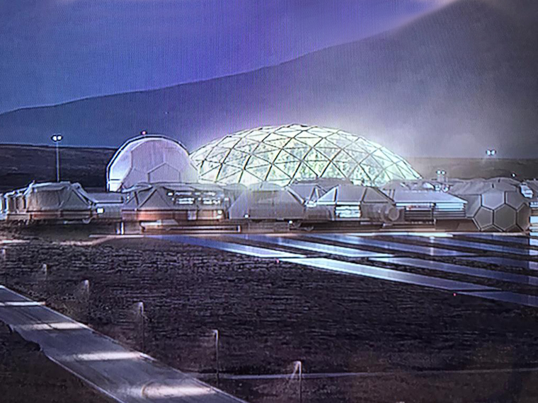 A Mars settlement of the future, imagined today